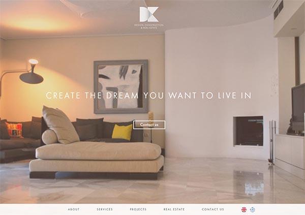 Εταιρική ιστοσελίδα - DK CONSTRUCTIONS