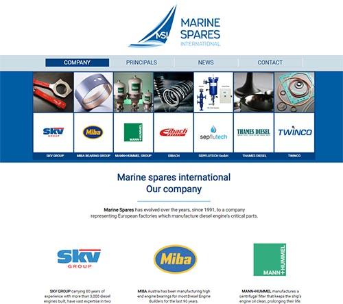 Εταιρική ιστοσελίδα - Marine Spares